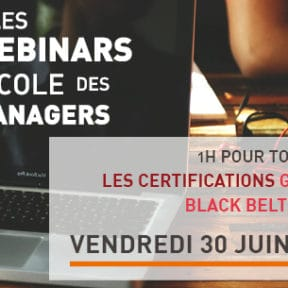 Save the date | WEBINAR sur les certifications Green Belt et Black Belt !